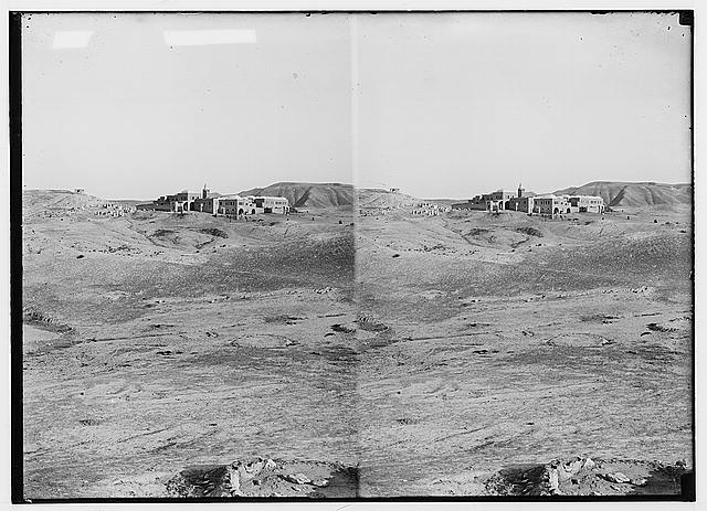 Road to Jericho, Jordan, etc. Neby Mousa [i.e., Nebi Musa], general view.