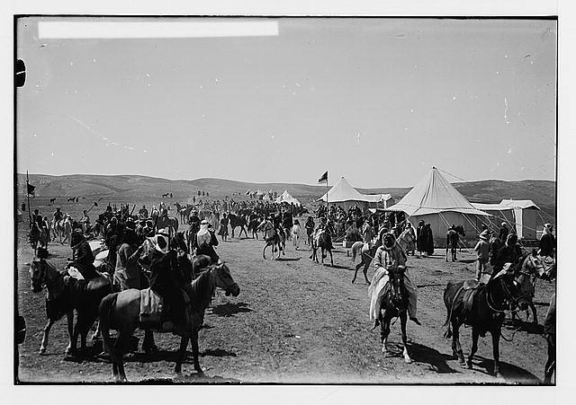 Sir Herbert Samuel's second visit to Transjordan, etc. Emir Abdullah's camp; near view [Amman].