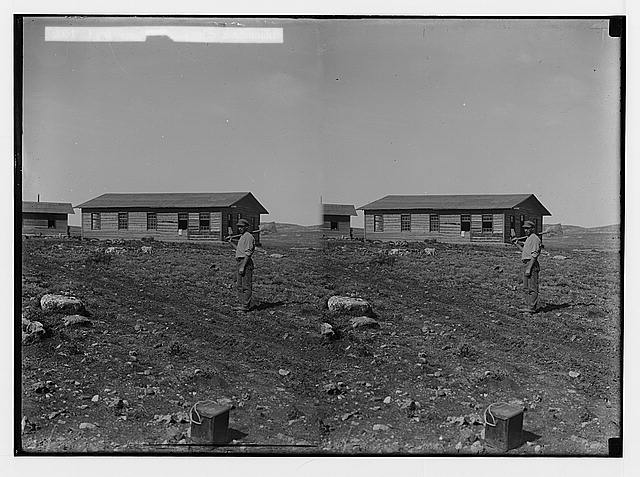 Jewish colonies and settlements. Commencing a Jewish settlement; a camp. First wooden house of a settlement