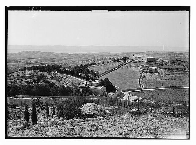 Mount of Olives and Gethsemane. Bethpage [i.e., Bethphage] from Olivet showing wilderness of Judea