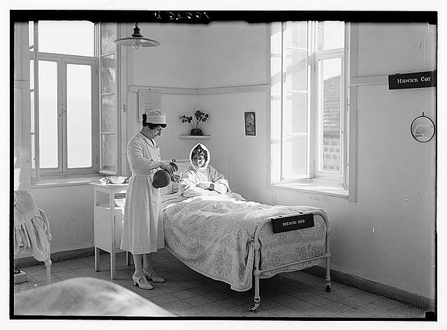 Scots Mission Hospital, Tiberias (Torrance). Hospital beds.
