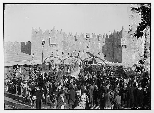 [Nebi Musa festival outside of the Damascus Gate, Jerusalem]