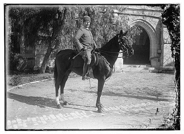 [Ashraf Bey in American Colony courtyard, Jerusalem]