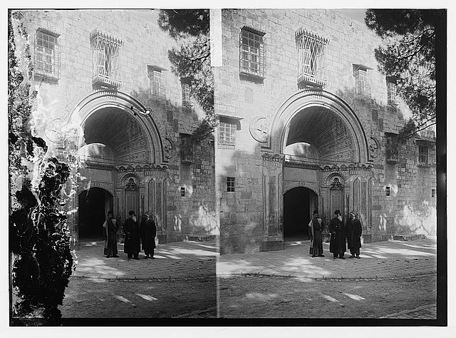 [Entrance to the Armenian Convent, Jerusalem]