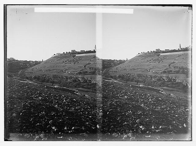 Jerusalem (El-Kouds), approach to the city. Panorama of Western Hill No. 1, western slope