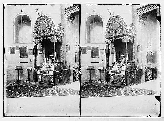 Bethlehem and surroundings. The Armenian altar [Church of the Nativity]