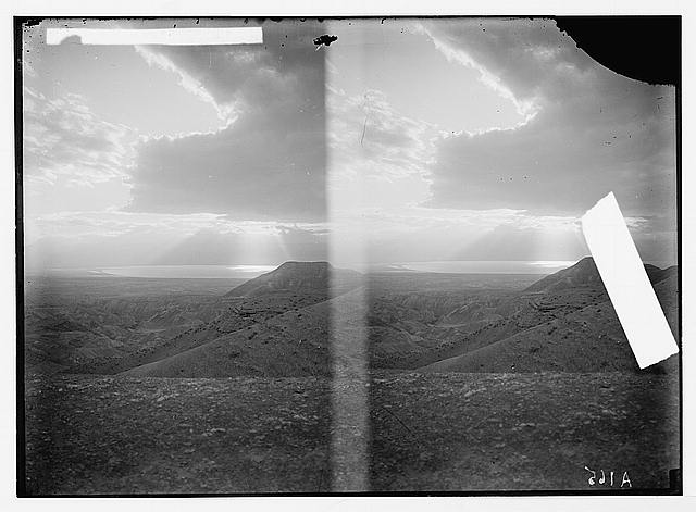 Road to Jericho, Jordan, etc. Dead Sea from Neby Mousa [i.e., Nebi Musa].