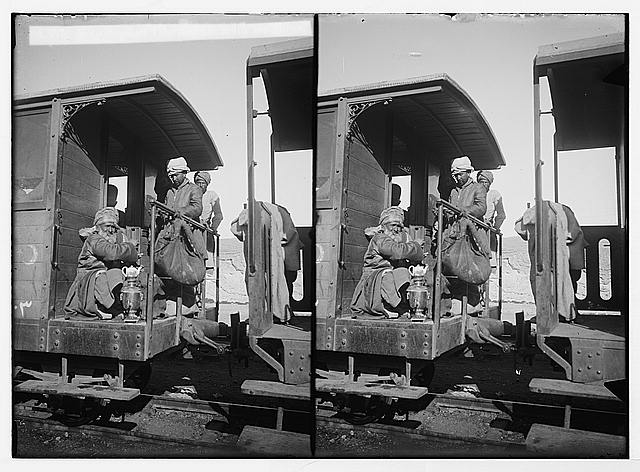 Various types, etc. Mohammedan [i.e., Muslim] pilgrims on train for Mecca.