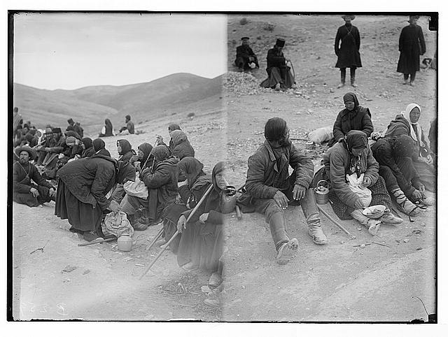 Various types, etc. Russians resting on the way to Jericho.