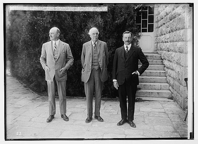 Hebrew University and Lord Balfour's visit. Lord Allenby, Lord Balfour and Sir Herbert Samuel