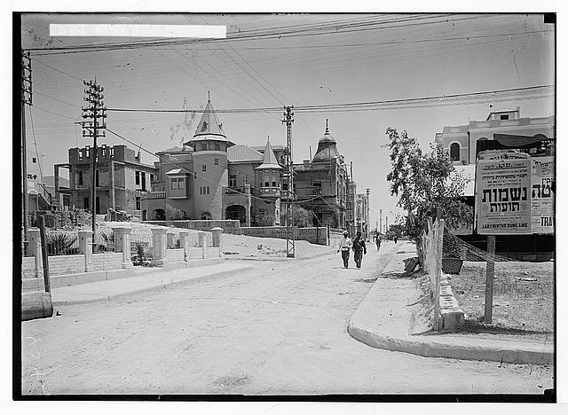 Jewish colonies and settlements. Tel Aviv. Modern building completed