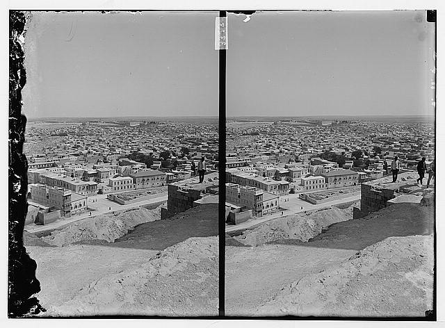 [Bird's-eye view of a city, possibly Aleppo]
