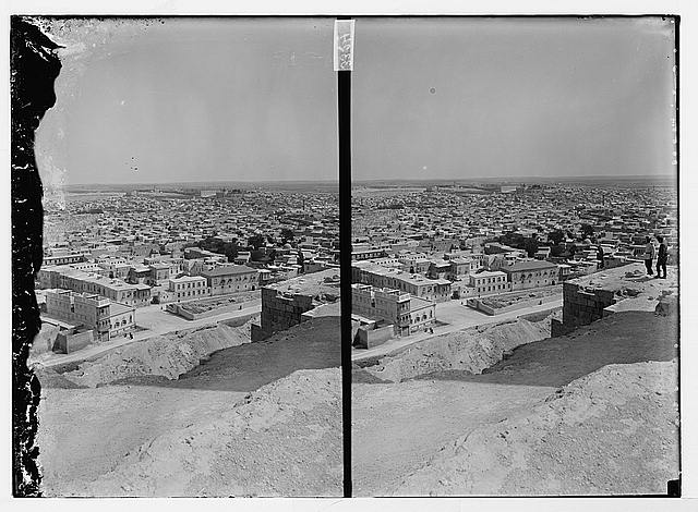 [Bird's-eye view of city, possibly Aleppo]