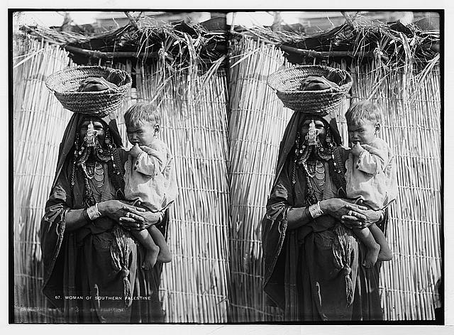 [Costumes, characters, etc. Mother and baby of Beersheba District]