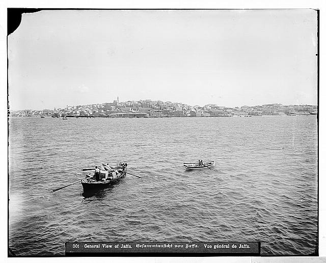 Jaffa (Joppa) and environs. View of Jaffa from the sea