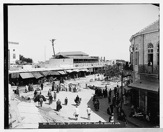 Jaffa (Joppa) and environs. The bazaar