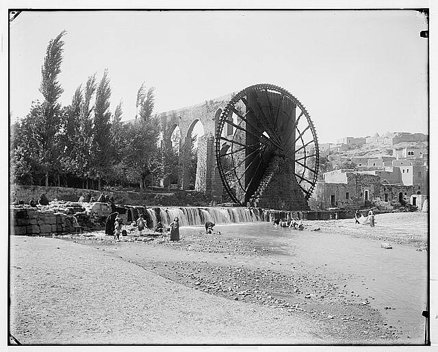[Hama. Waterwheel on Orontes River]