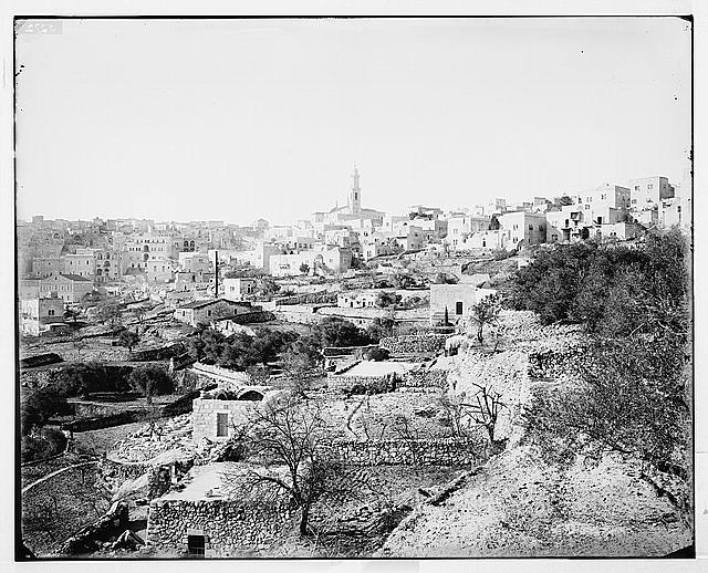 Bethlehem (Beit-Lahm) and surroundings. General view of Bethlehem