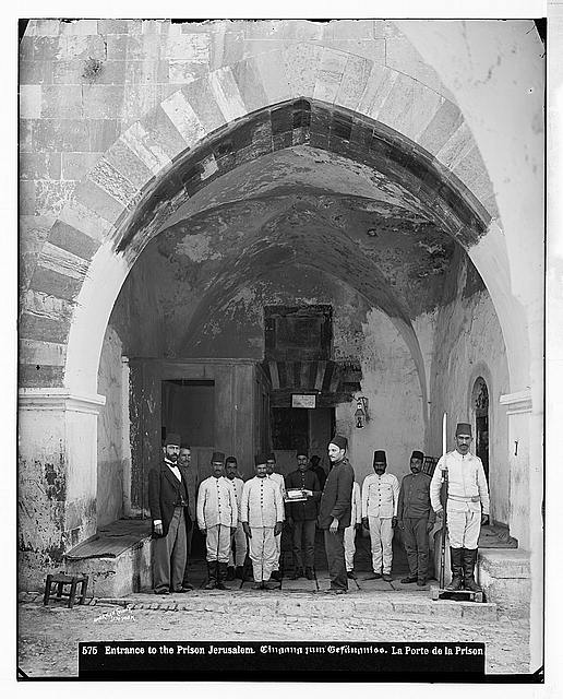 Costumes and characters, etc. Entrance to the prison, Jerusalem