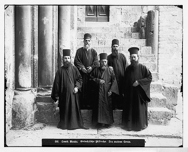 Costumes and characters, etc. Greek monks