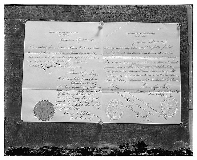 Legal document, 1897