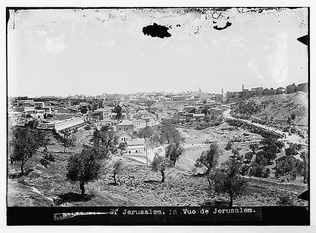 Jerusalem (El-Kouds). First view of Jerusalem from the south