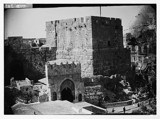 Jerusalem (El-Kouds). Towers of David and Hippicus.