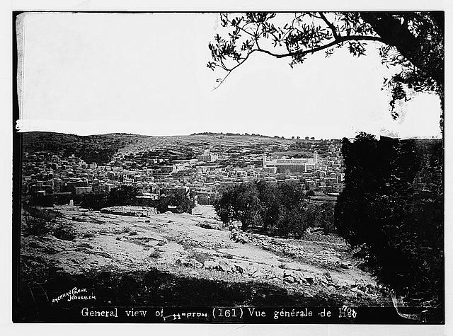 Hebron (El-Khalil). General view of Hebron
