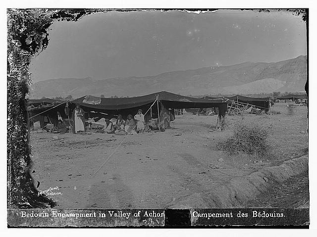 Road to Jericho (Er-Riha), etc. Valley of Achor. Bedouin camp.