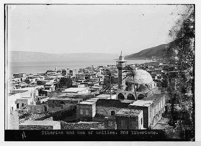 Northern views. Near view of Tiberias
