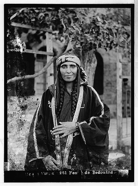 Costumes, characters and ceremonies, etc. Bedouin women