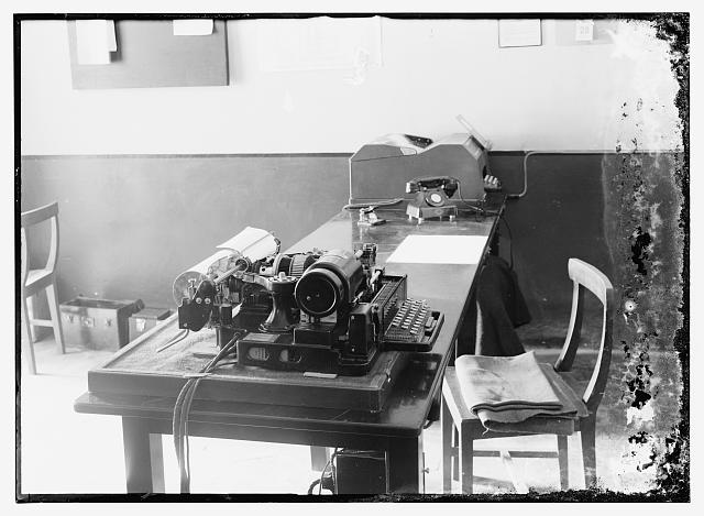 Teleprinter, June 1938, Jerusalem Dept. of Health