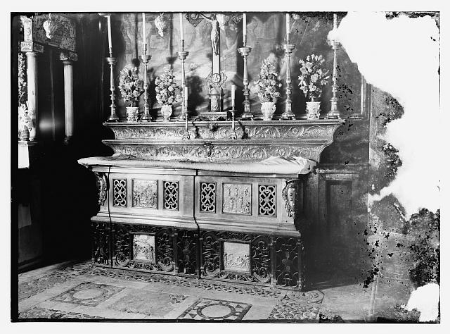 Altar at 11th Station of the Cross in Church of Holy Sepulchre