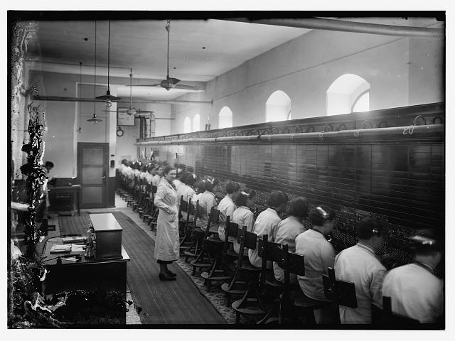 Panorama of tel. Co. [i.e., Telephone Company] switchboard