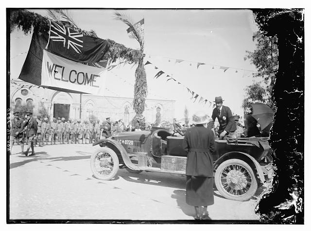 H.S. [i.e., Herbert Samuel] welcome to Beersheba, Nov. 16, 1920