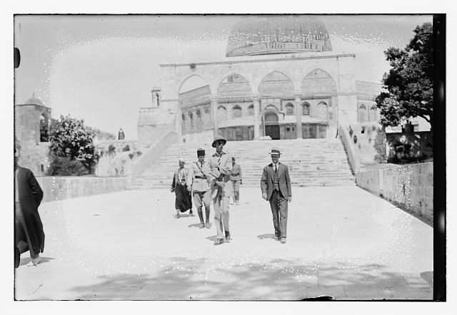 [Visit of Prince William of Sweden? to Dome of the Rock, Jerusalem]