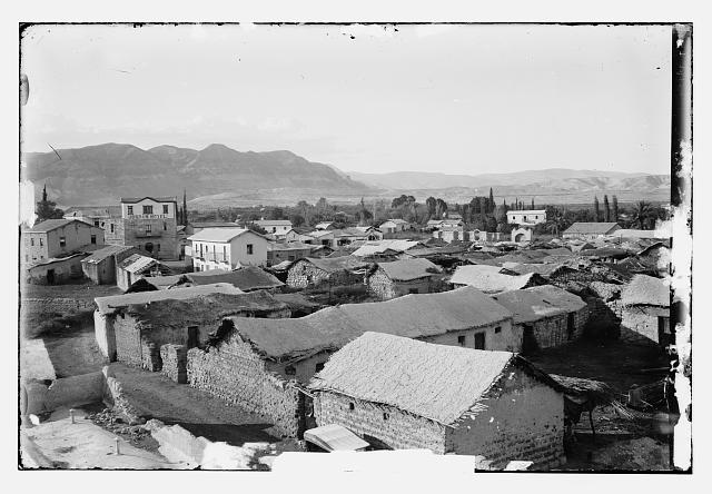 [View of Jericho and the Jericho Hotel]