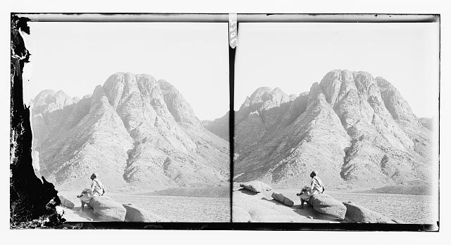 To Sinai via the Red Sea, Tor, and Wady Hebran. Near view of Mount Sinai
