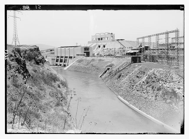The Palestine Electric Corporation Power Plant, otherwise known as Rutenberg's Jordan Power Plant. The P.E.C. Power Plant. The tail-race canal