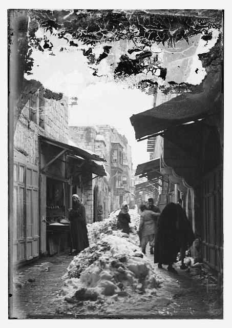 Jerusalem in snow. 1921