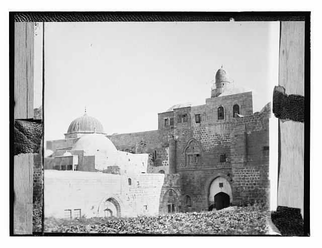 [Copy of photograph of buildings in Jerusalem?]