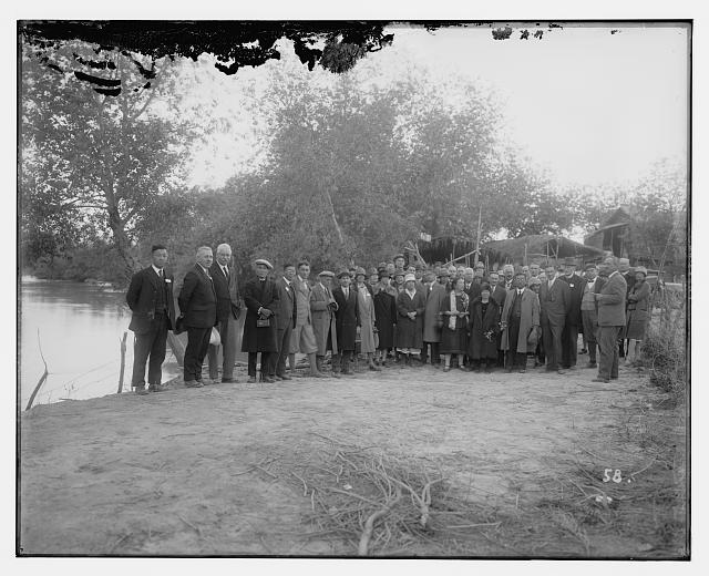 I.M.C. [i.e., International Missionary Council] delegates at Jordan River, 1928