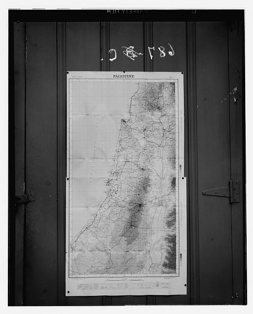 Maps, plans, restorations, etc. Map of Palestine