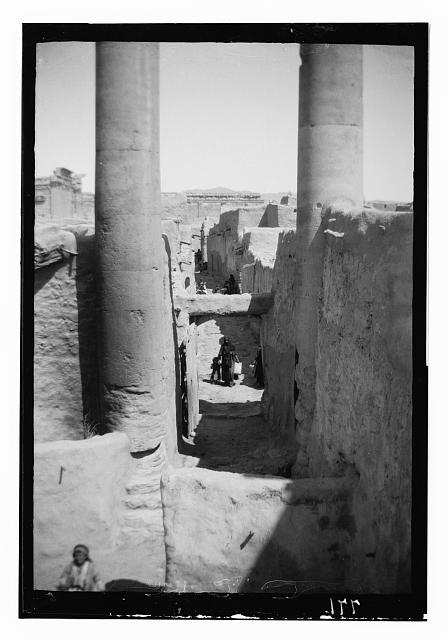 Palmyra (Tadmor). Street of village in Temple of the Sun