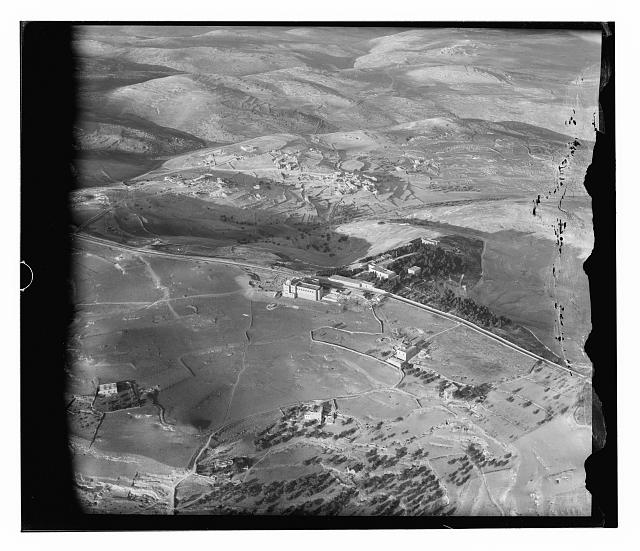 [Aerial view of Hebrew University campus on Mt. Scopus, Jerusalem]