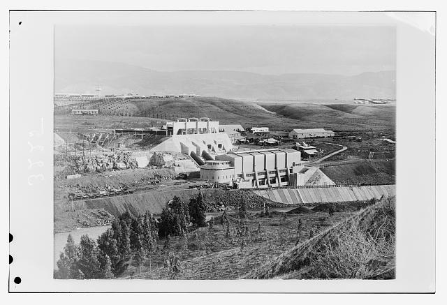The Palestine Electric Corporation power plant. Gen[eral]. view with workers' homes in distance
