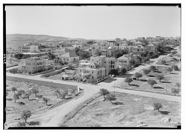 Newer Jerusalem and suburbs. Talbieh, a Christian Arab community