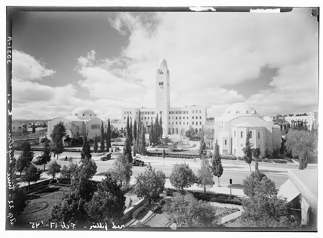 Newer Jerusalem and suburbs. Y.M.C.A., panorama showing the bld'gs [i.e., buildings]