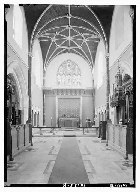 St. George's Cathedral, Jerusalem. The chancel, taken after change