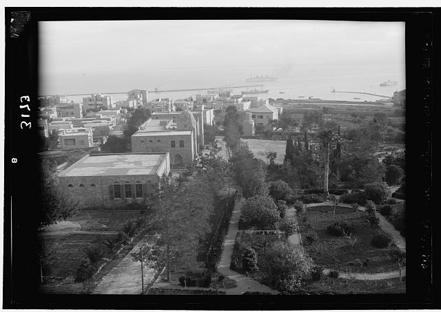 Zionist activities around Haifa. Haifa and the Harbour from the Technical School